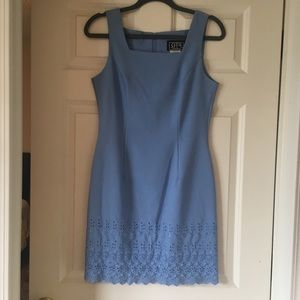 Knee length blue dress